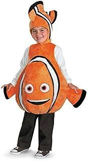 Disney Finding Nemo Nemo Deluxe Costume, Orange/Black, One Size