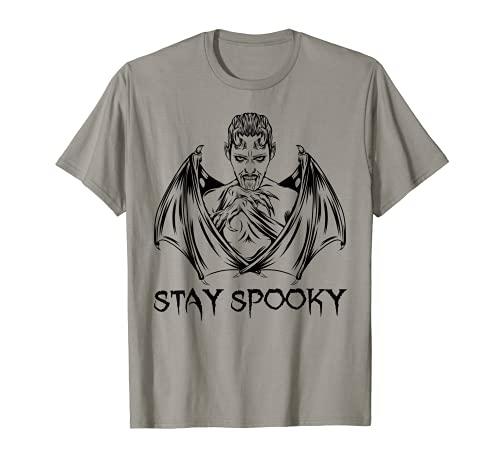 Stay Spooky Shirt - Disfraz de vampiro de murciélago de Halloween Camiseta