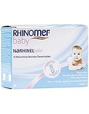 Rhinomer Baby, Narhinel Confort, Recambios Blandos Desechables, para un Mejor Ajuste a la Nariz del Bebé, con Filtro Absorbente, x 10