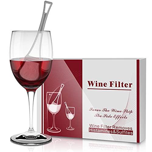 JIUBAR Weinfilter, Entfernt Histamine und Sulfite Mit Twist-Off Wine Charms überspringen Sie die Keine Weinkopfschmerzen mehr Nebenwirkungen