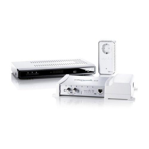 Devolo dLAN TV SAT Starter Set (SAT Fernsehen über das Stromnetz, kein Kabel verlegen, Powerline) weiß