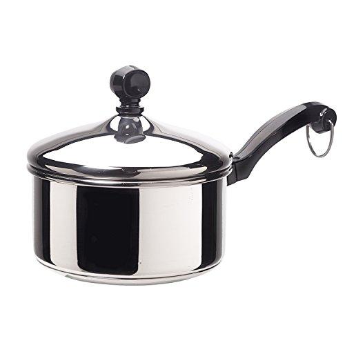 Farberware 50000 Classic Stainless Steel Sauce Pan/Saucepan with Lid, 1 Quart, Silver