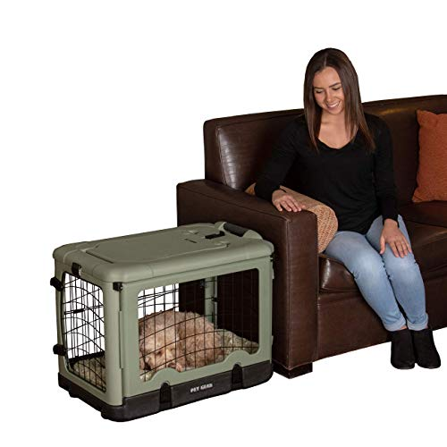 "Pet Gear ""The Other Door"" 4 Door Steel Crate with Plush Bed  Travel Bag for Cats/Dogs"