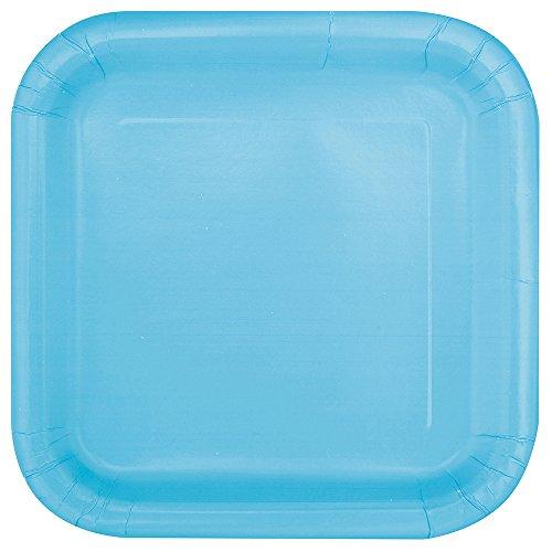 Unique Party - 30901 - Paquet de 14 Assiettes en Carton - 23 cm - Bleu Bébé