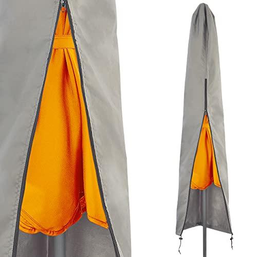 Sonnenschirm Schutzhülle – für Sonnenschirme rund bis Ø 270cm, rechteckig bis 210x150cm – Sonnenschirm Hülle aus 100% Polyester - wetterfest, lichtbeständig, strapazierfähig