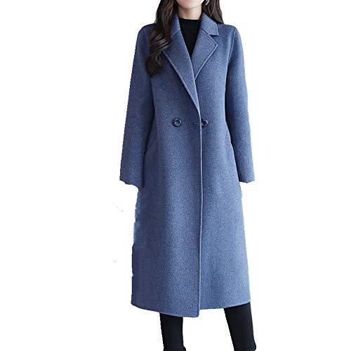 N\P Abrigo de lana para mujer de longitud media con cuello de rodilla en otoño e invierno