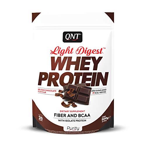QNT Proteine del Siero di Latte con Fibre, Bcaa e Whey Isolate Gusto Cioccolato - 0.5 kg