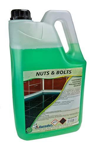 Eurodet-Nuts & Bolt- Detergente Lavapavimenti Professionale per Officine e Magazzini con Lavasciuga-1 tanica da 5 kg-Made in Italy