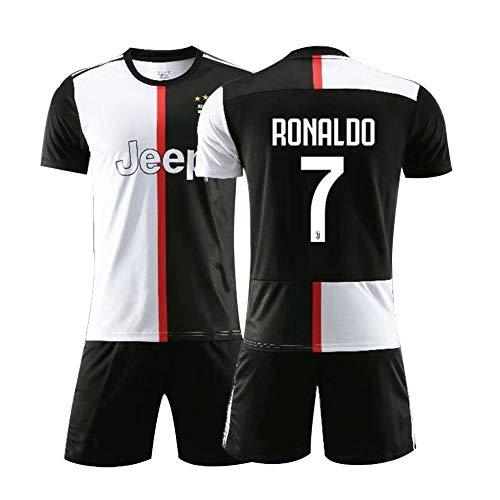 Voetbal jersey pak voor kinderen 7# Ronaldo Unisex trainingshemden Athlete's Jersey mesh sneldrogend korte mouwen geborduurde stof fans sweatshirt, kindergeschenk