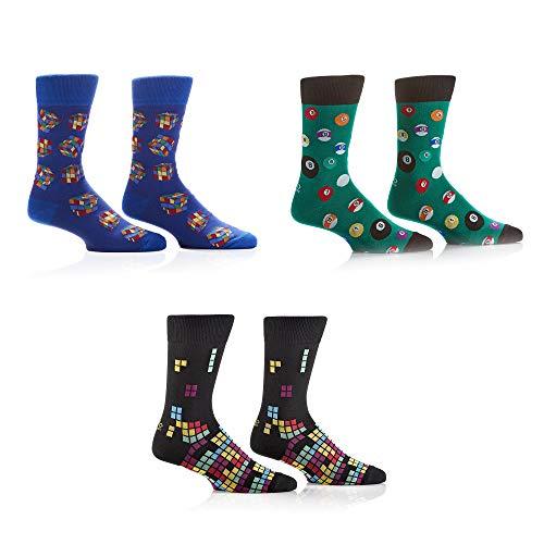 Yo Sox Socken für Damen und Herren – lustige und bunte bedruckte Socken – 3er-Pack - mehrfarbig - Einheitsgröße