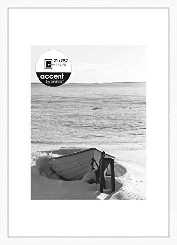 Nielsen Accent Holz Bilderrahmen Aura, 21x29,7 cm (A4), Weiß
