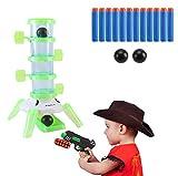 LimitlessFunN Barrel Glow in The Dark Shooting Games for Kids, Shooting Target for Nerf with Blaster Gun, 12 Foam Darts & 2 Balls, Kids 5, 6, 7, 8, 9, 10+ Shooting Practice for Children