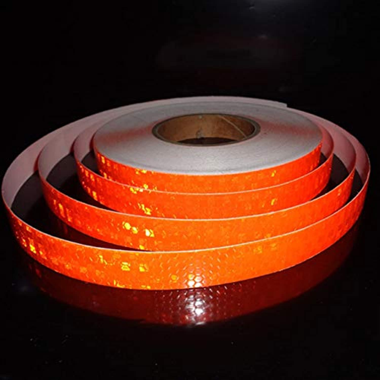 15 20 25 35mm Width 25 50m Small Size Lattice Tape Sticker Car Truck Motorcycle Safety Warning Strip Decal  (color Name  orange, Style  15mm x 50 Meters)