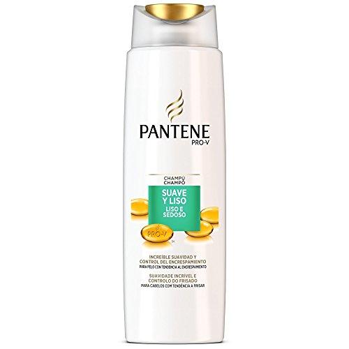 Pantene Shampooing Doux et lisse pour cheveux à tendance au encrespamiento – 400 ml