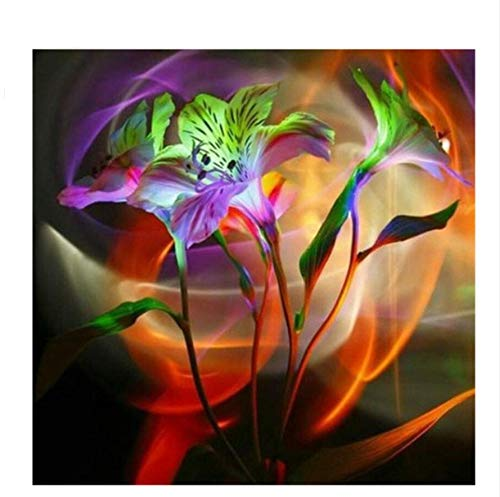 MOL diamant borduurwerk kristal lelie bloem afbeelding mozaïekkits DIY 5d diamant schilderij kruissteek parelpatroon 3D 40x50cm/16x20in