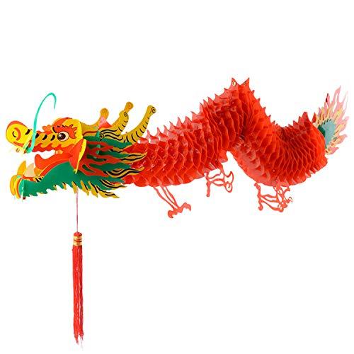 Chinesisches Neujahr Drache,3D Chinesische Drachen Laternen Girlande HäNgen Ornamente FüR Lunar Neujahr Chinesische FrüHlingsfest Festliche Dekoration
