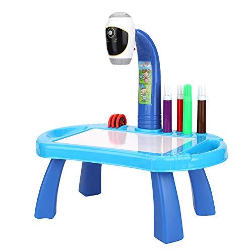 Mesa de proyector de dibujo para niños, juego de juguetes educativos de dibujo para pintar, proyector, escritorio, tableta, juguete de aprendizaje, regalo, juego de dibujo educativo para niños y niñas