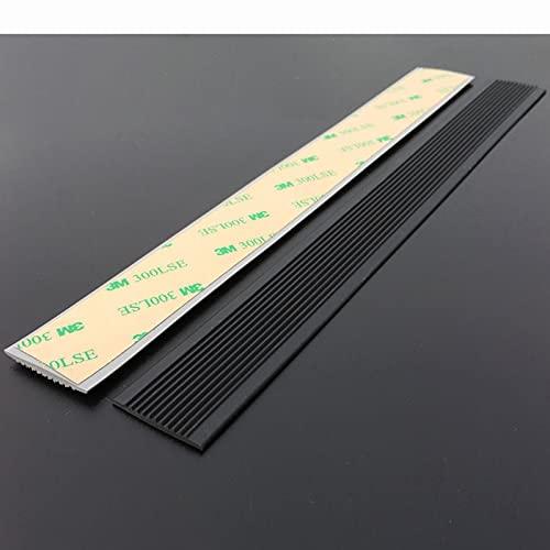 Perfil de borde de escalera Almohadilla de cinta antideslizante para escaleras de plástico de PVC,adecuada para el piso de baldosas de jardín de infantes Cinta autoadhesiva(ancho 3 cm * grosor 2,5 mm)