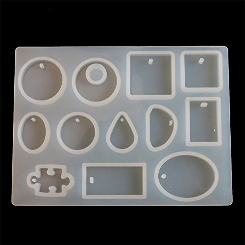 Calvinbi Earring Resin Moulds, Silicone Leaf Earring Pendant Mould, Jewelry Epoxy Mold Resin Casting Tool for DIY Craft Making