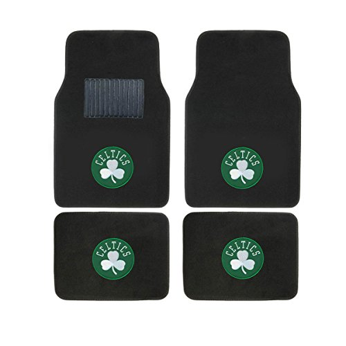 SLS Newly Released Licensed Boston Celtics Embroidered Logo Carpet Floor Mats. Wow Logo on All 4 Mats.