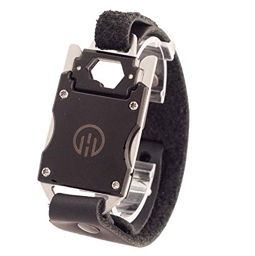 Higher Objects Finn Adjustable Multi Tool Men's Bracelet with Bottle Opener and 7-in-one Multi Tool- Genuine Leather Strap and Stainless Steel Tools- Wearable Survival Gear for Your Outdoor Enthusiast. The Perfect Useful Men's Gift. (Black)