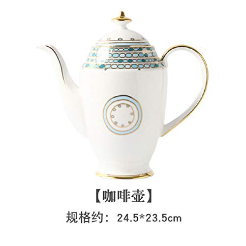 Kaffeetasse kleine Luxus Keramik Tasse und Untertasse nach Hause Britisches Bone China Nachmittagstee Tasse Tee-Set Big Pot