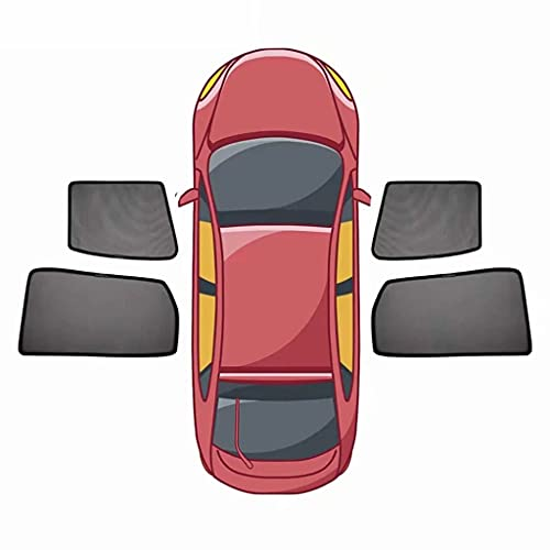 QCYP Parasol De Coche Adecuado para Volkswagen VW Golf 7 Cortinas de Malla termoaislante De Sombra