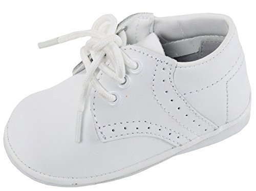 OLIVIA KOO Baby Boys Infant to Toddler Oxford Christening Shoes White 2
