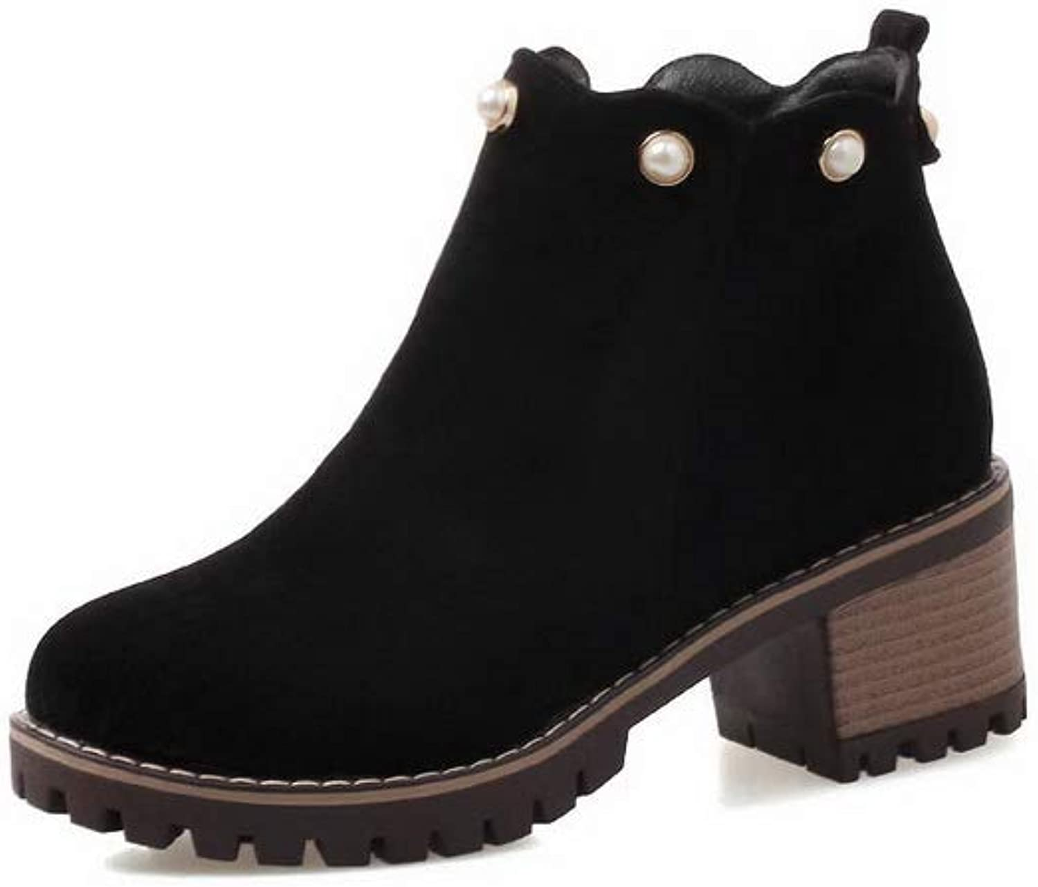 1TO9 Womens Studded Ruched Comfort Urethane Boots MNS02728