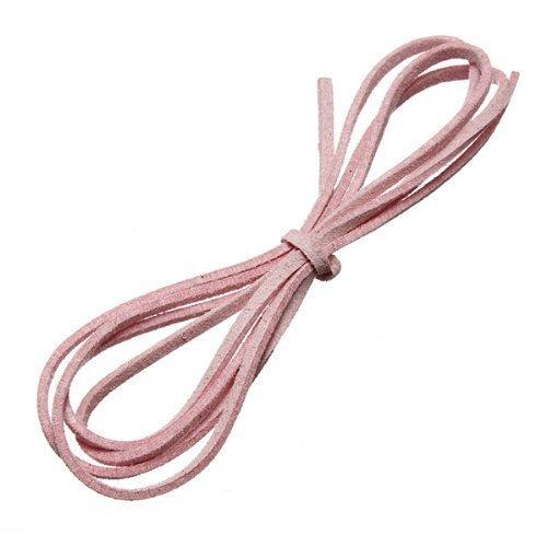 Romote Agua Madera 3.3 pies Gamuza sintética del cordón de la Pulsera de Hilo de Color Rosa Cable de cordón de Cuero Artesanal Plana requisitos previos de Bricolaje Ligera