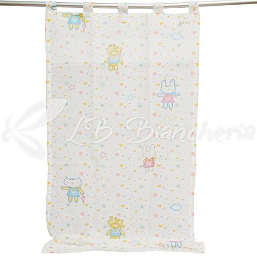 R.P. Zelt Chapiteau Kinderzimmer Junge Mädchen Bunny–cm 140x 280–Weiß