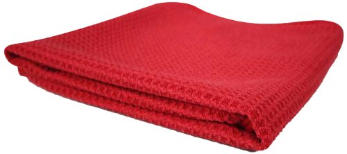 Chemical Guys MIC_707_1 Waffle Weave Towel for Home & Auto Glass, Windows, Mirrors & More, Red (24 in. x 16 in.)