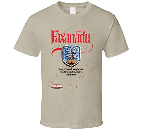 Faxanadu Classic NES Box Art T Shirt M Tan