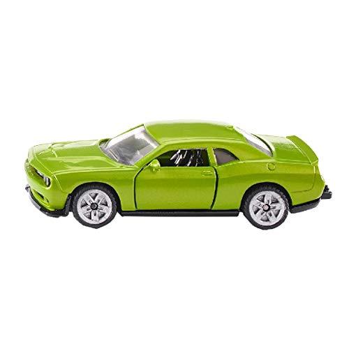 SIKU 1408, Dodge Challenger SRT Hellcat, Metall/Kunststoff, Grün, Öffenbare Türen, Spielzeugauto für Kinder