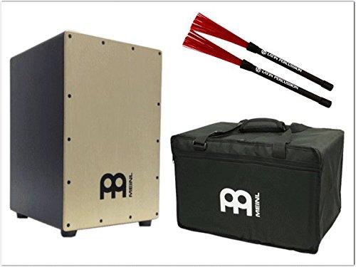 マイネル(MEINL)カホン・Cajon パーカッション(MCAJ100BK-MA-Brushes)(打楽器入門向け・ケース・カホンブラシ付き)