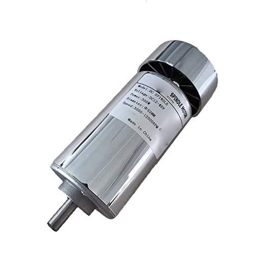 Lruirui-Motor DC Máquina de Grabado CNC 0.3kw 0.4kw 0.5kw, Motor de husillo de la máquina de Grabado del Eje, enfriamiento de Aire CNC Spindle DC Motor, Piezas de Bricolaje (Color : 300W Spindle)