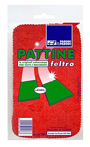 Pattine, pattine feltro per pavimento misura unica, pattine per pavimento lavabili, pattine comode e pratiche sostituiscono ciabatte, sottoscarpe in feltro, art 138 Parodi&Parodi