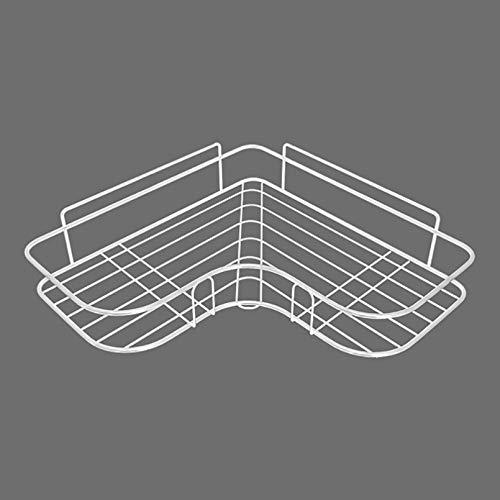 CGLOVEWYL Estante de Ducha de Marco de Esquina montado en la Pared de baño, Soporte de Almacenamiento de champú de Hierro Forjado, Estante Organizador de Almacenamiento de Cocina sin Perforaciones