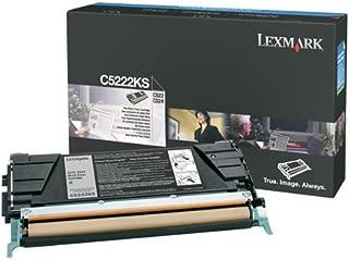 Lexmark C5222KS Black Toner Cartridge C522, C524, C530, C532, C534 Printers. Same as C5220KS, C5226KS All 4K pg Yield