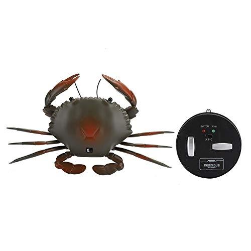 Tnfeeon Juguete de Cangrejo de Control Remoto por Infrarrojos Juguete de Cangrejo Animal Realista Juguete de Juego de Trucos Prop Adornos de Adorno Regalo para niños (Cian)