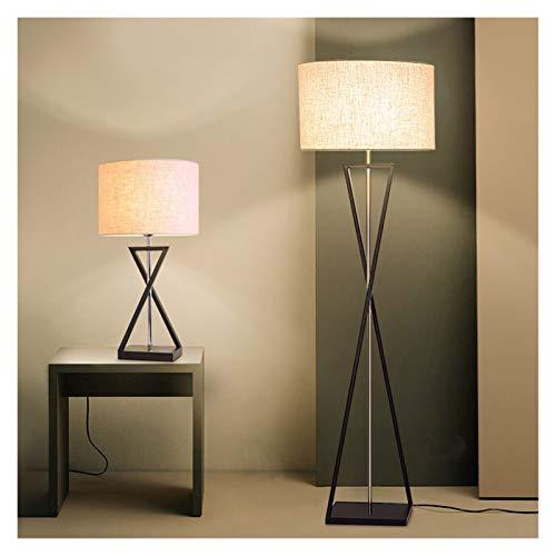 YSVSPRF floor lamp Nordic Modern Standing Lamp Living Room Art Deco Floor Lamp Led Bedroom Light Fixtures Night Lamp Beside Lamp Stand Light (Lampshade Color : A Beige table lamp)