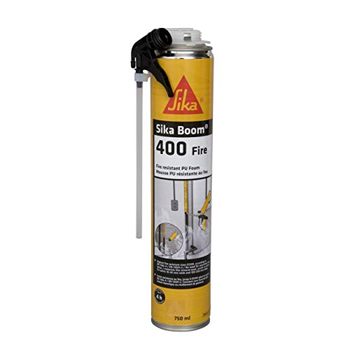Sika Boom 400 Fire, Mousse expansive coupe-feu, 750ml, Rose