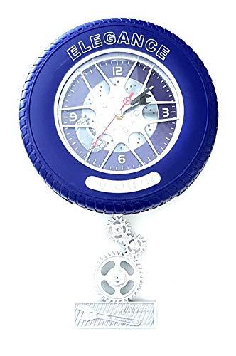 amberstore Quarzuhr Wanduhr Autofelge Auto Reifen Wanduhr Garage Büro Uhr Clock Wohnaccessoires 23cm