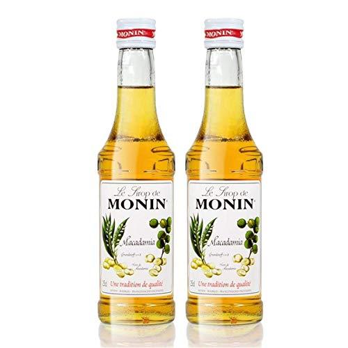 2x Monin Macadamia Sirup, 250 ml Flasche