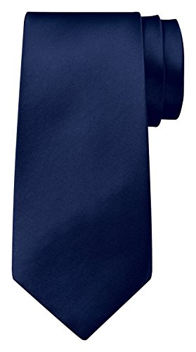 BomGuard 8 cm dunkel-blau glänzend herren-krawatte damen seide männer frauen