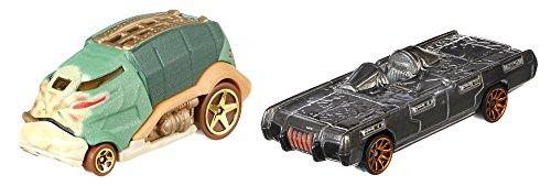 Star Wars Jabba The Hutt und Han Solo in Carbonte Charaterfahrzeuge aus Legends - Hot Wheels Fahrzeug im Maßstab 1 : 64