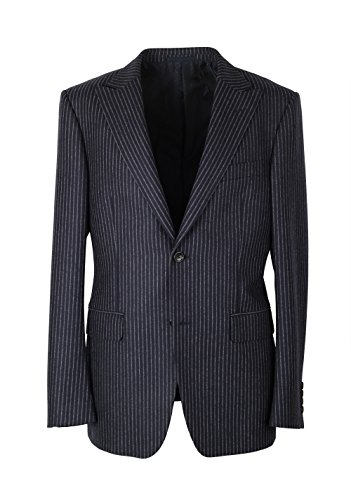 Gucci CL Navy Flannel Striped Suit Size 48 / 38R U.S. In Wool