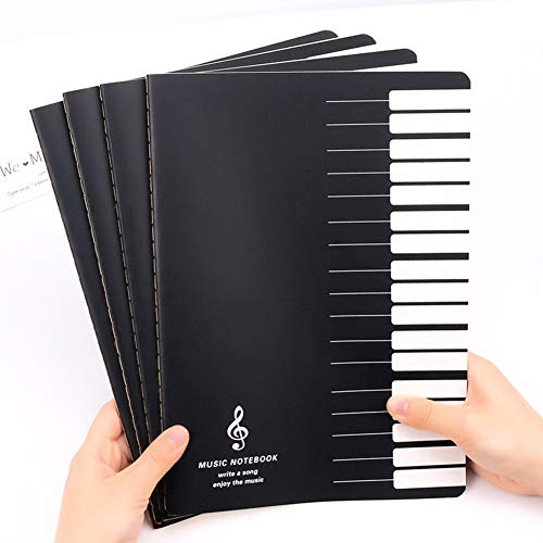 Rabusion Hot for 18 Sheets Music Practice Notebook Piano Violin Book Universal Five-line Notebook Random Pattern