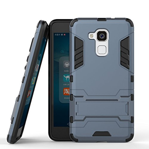 Huawei Honor 5C Hülle Hülle, Huawei Honor 5c Hülle, MHHQ Hybrid 2in1 TPU+PC Schutzhülle Rugged Armor Hülle Cover Dual Layer Bumper Backcover mit Ständer für Huawei Honor 5c-Black Plus Gray