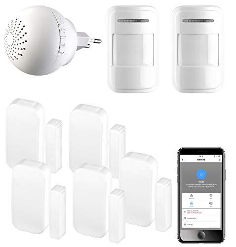 VisorTech Alarmanlagen: 8-teiliges Funk-WLAN-Alarmsystem für Funk-Geräte an App Elesion (WLAN Alarmanlage)